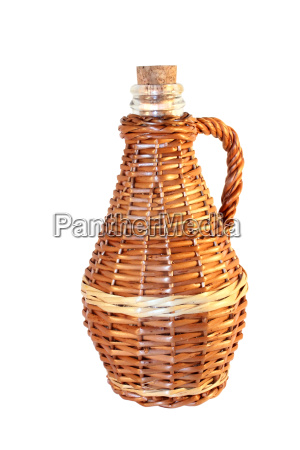 wattled wicker bottle