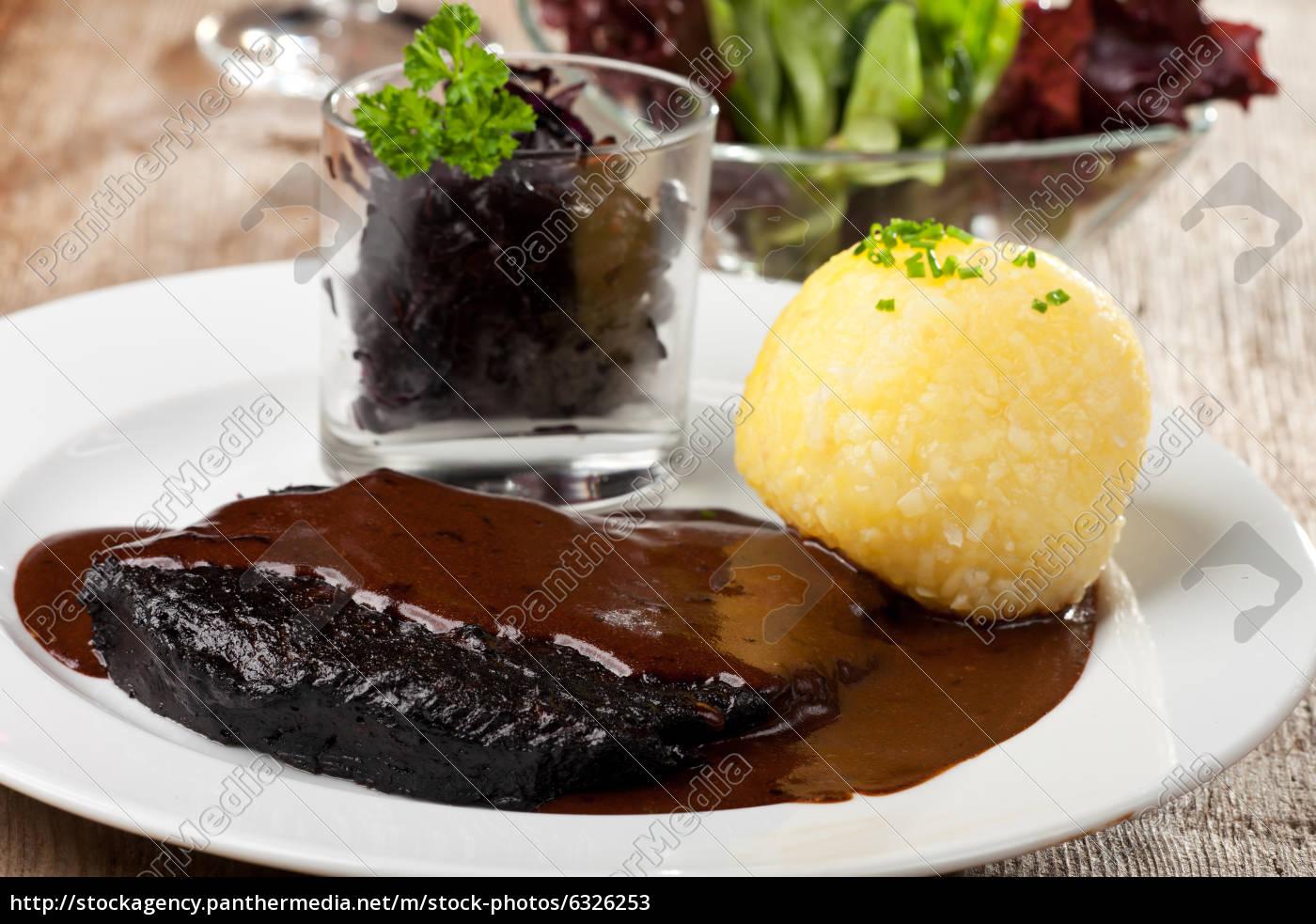 sauerbraten, with, potato, dumplings - 6326253