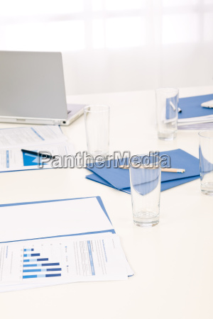 office supply on table before business