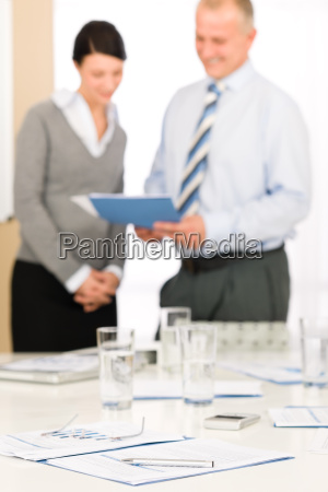 office supply two business people