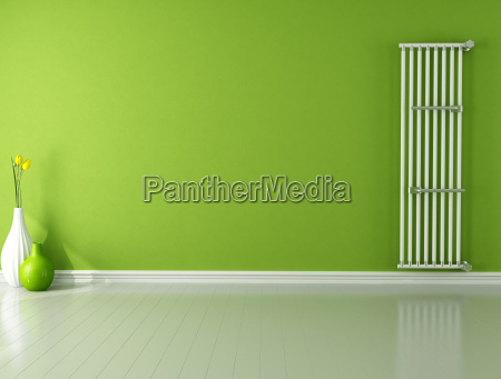 empty room with radiator