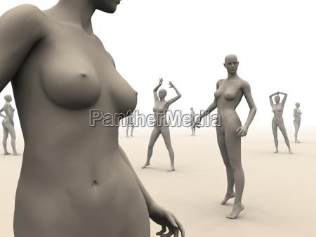 mannequin arrangement