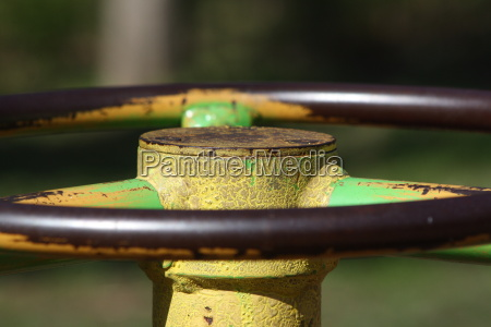 detail of a carousel playground