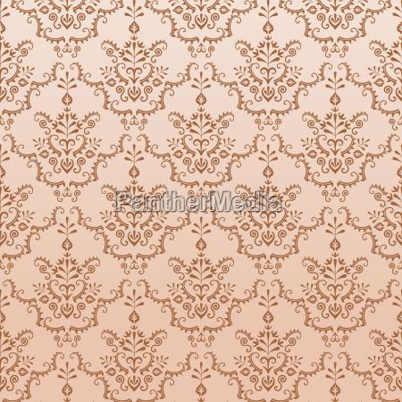 golden seamless damask pattern