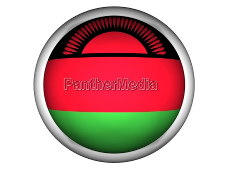 national flag of malawi button