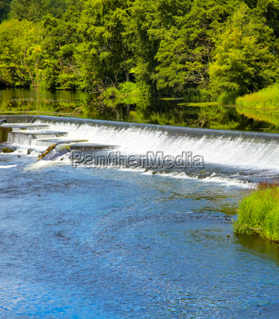 artificial waterfall on liffey river