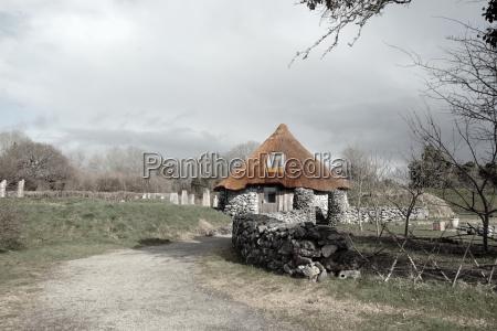 ancient rustic cottage