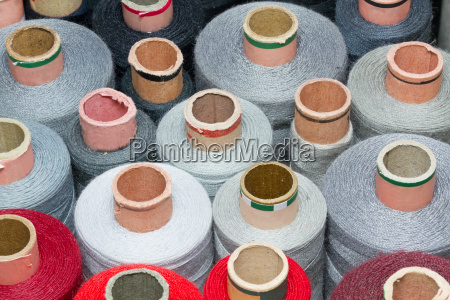 colored cotton reels
