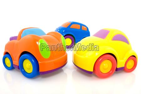 vivid multicolored cars
