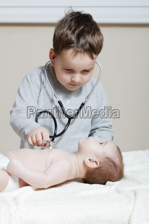stethoscope listening to a baby039s heartbeat