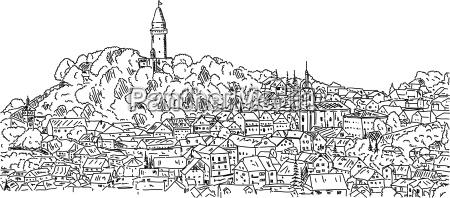 stramberk historic town