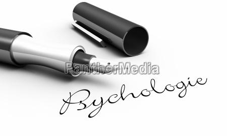 psychology pen concept
