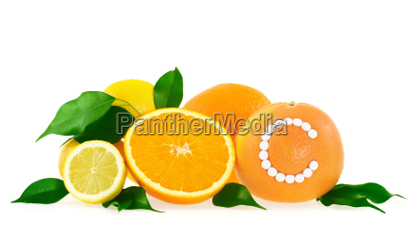 orange lemon grapefruit with vitamin c