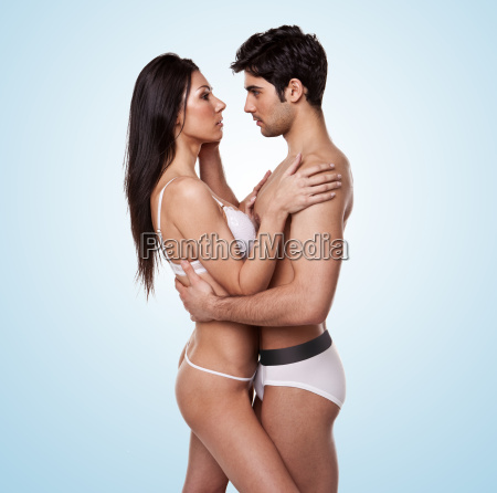 loving romantic young couple