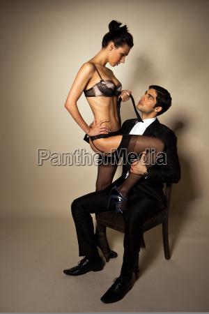 businessman with sexy escort