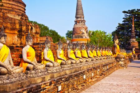 famous temple area wat phra si