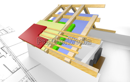 roof thermal insulation at the