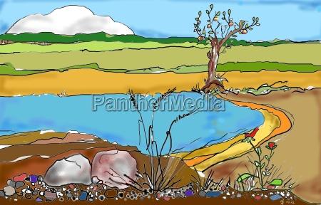 summer summer feeling bathing pond collage