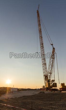 wind turbine construction crane