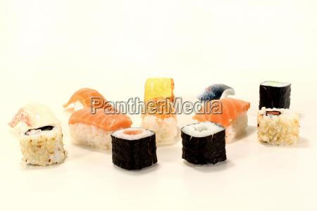 fresh raw japanese sushi