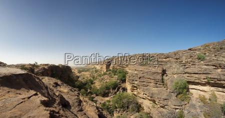 cliff of bandiagara in dogon land