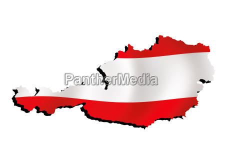 map austria with flag