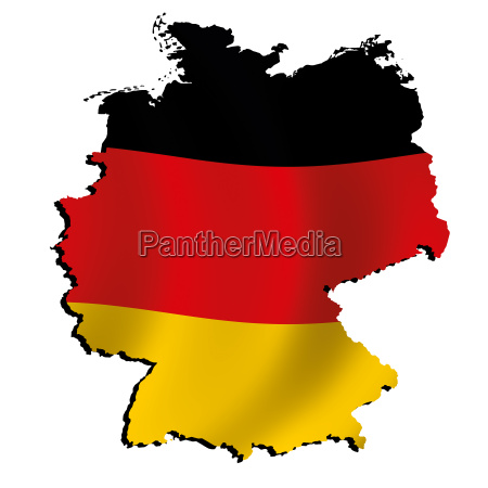 map germany with flag