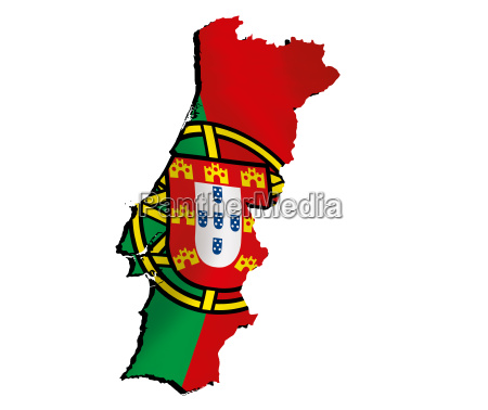 map portugal with flag
