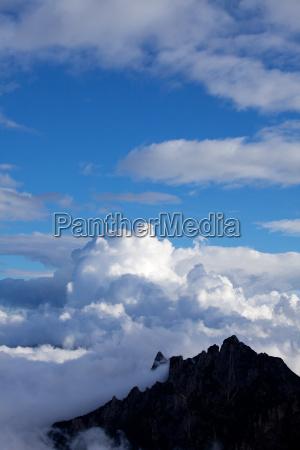 cloud in the italian alps