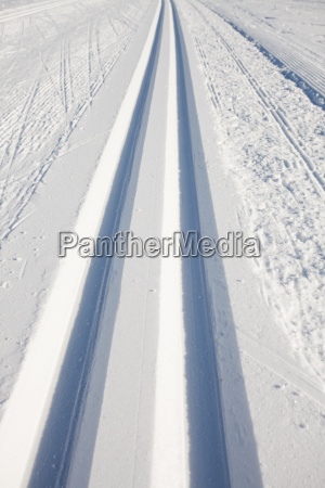 cross country ski trails in winter