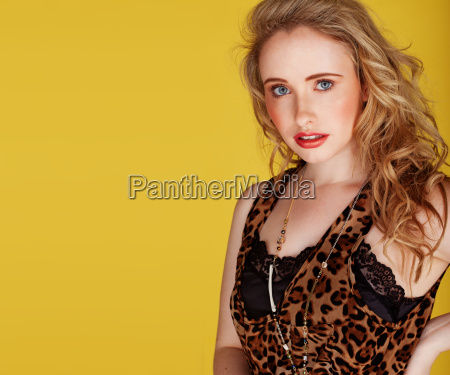 woman wearing top with leopard prints