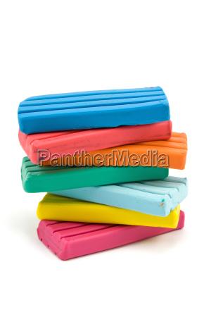 color plasticine bricks