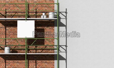 renovation of a facade