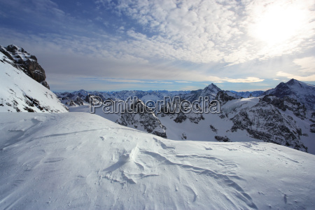 standing on titlis of the swiss