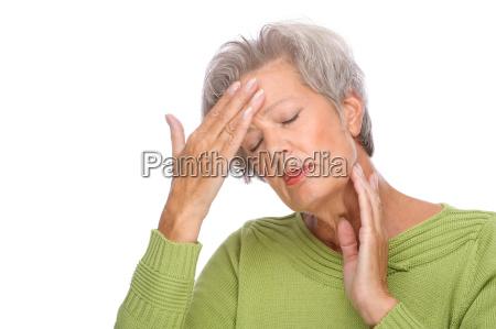 senior with pain