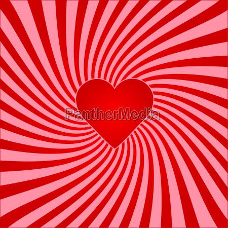 red sunburst valentine background