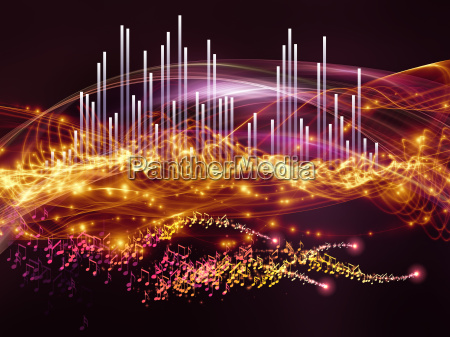 abstract visualization wave