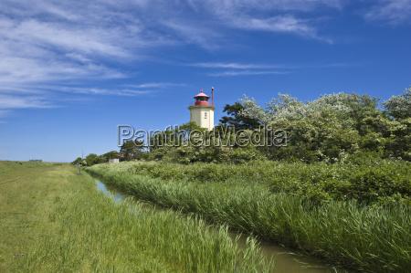 lighthouse westermarkelsdorf insel fehmarn