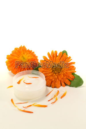 calendula ointment with petals