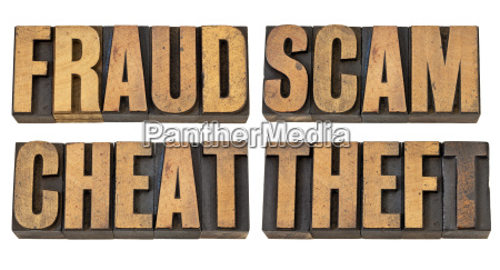 fraud scam cheat and theft