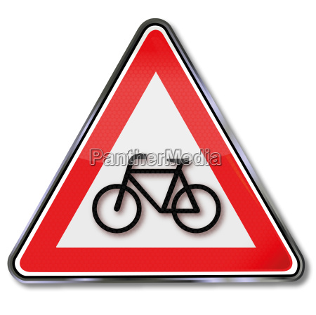 road sign bicycle