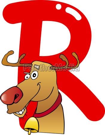 r for reindeer