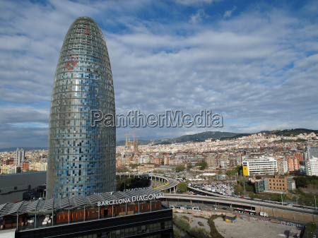 view of the agbar tower and