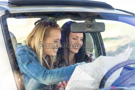 road trip car lost women search