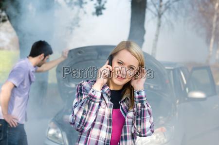 car, breakdown, woman, call, for, help - 6714279