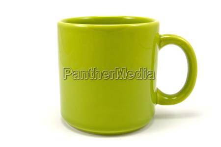 green ceramic teacup