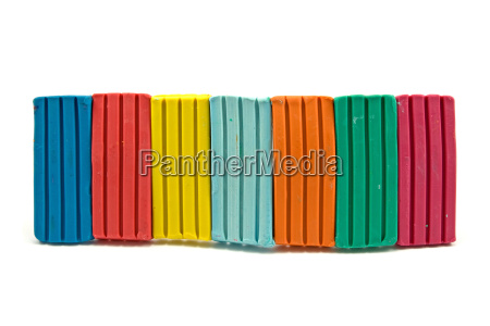 row of colorful plasticine