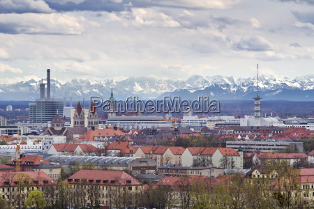 munich at foehn with a view