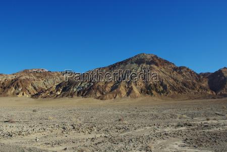 multicoloured hills death valley california