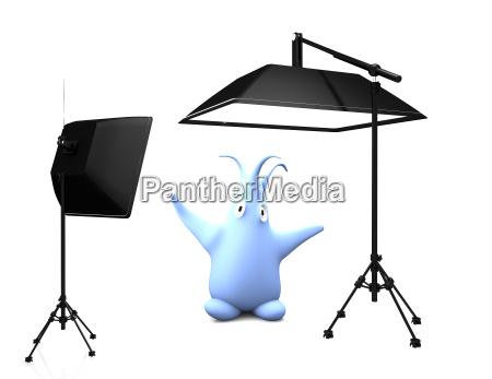 floopi in photo studio